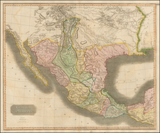 Texas, Plains, Southwest, Rocky Mountains and Mexico Map By John Thomson