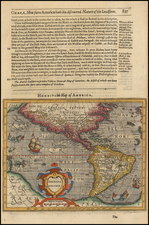 Western Hemisphere, South America and America Map By Jodocus Hondius -  Gerard Mercator
