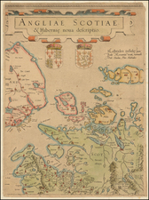 British Isles, Scotland and Ireland Map By  Gerard Mercator