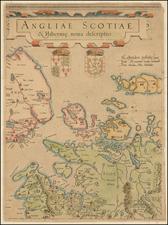 British Isles, Scotland and Ireland Map By  Gerard Mercator