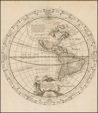 Western Hemisphere, South America and America Map By Melchior Tavernier