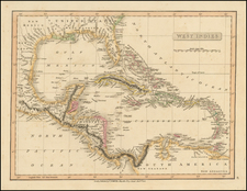 Southeast, Caribbean and Central America Map By Charles Smith