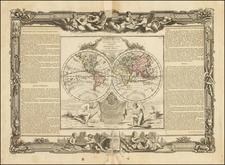World Map By Louis Brion de la Tour