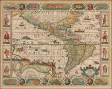 America Map By Pieter van den Keere / Nicolaes Visscher I