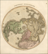 Northern Hemisphere and Polar Maps Map By John Thomson