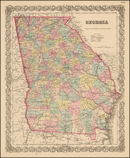 Southeast and Georgia Map By G.W.  & C.B. Colton