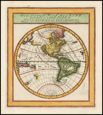 Western Hemisphere, South America and America Map By Gabriel Bodenehr
