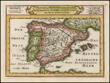 Spain and Portugal Map By Gabriel Bodenehr