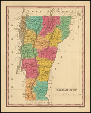 New England and Vermont Map By Anthony Finley