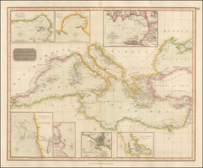 Mediterranean Map By John Thomson