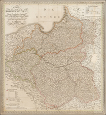 Poland Map By Carl Ferdinand Weiland