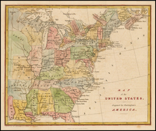 United States Map By Fisher & Son