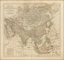 Asia and Asia Map By Robert Sayer