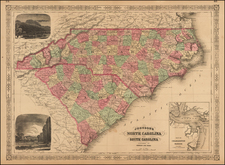 Southeast Map By Benjamin P Ward  &  Alvin Jewett Johnson