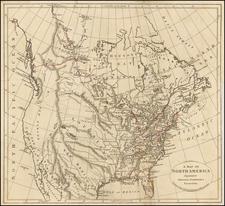 North America Map By William Darton