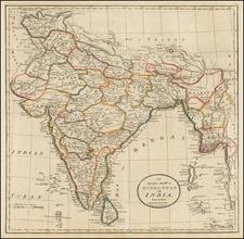 India Map By Mathew Carey
