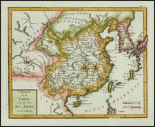 China, Japan and Korea Map By Citoyen Berthelon