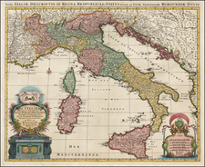Italy Map By Johannes Covens / Alexis-Hubert Jaillot / Pieter Mortier