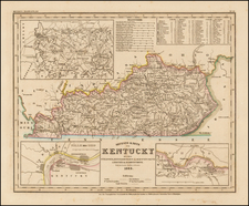 South and Kentucky Map By Joseph Meyer