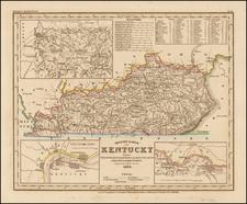 Neueste Karte von Kentucky . . .1845 By Joseph Meyer