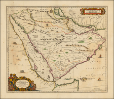 Middle East and Arabian Peninsula Map By Jan Jansson / Valk & Schenk