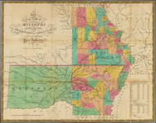 South, Plains, Kansas and Missouri Map By Samuel Augustus Mitchell