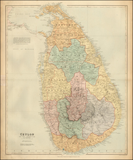 India and Other Islands Map By Edward Stanford