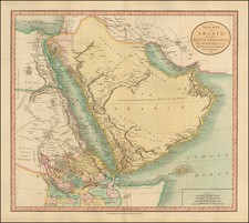 Middle East, North Africa and East Africa Map By John Cary
