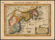 New England, Mid-Atlantic and Canada Map By Petrus Bertius