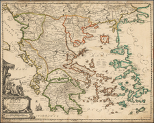 Greece and Turkey Map By Nicolas Langlois