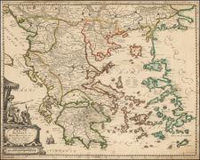 Grece Moderne ou Partie Meridionale De La Turquie En L'Europe . . .  chez Langlois . . .  By Nicolas Langlois