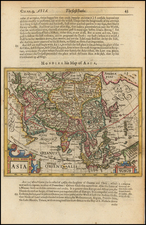 Asia and Asia Map By Jodocus Hondius / Samuel Purchas