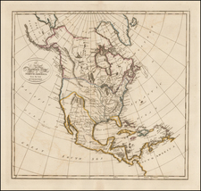 North America Map By Mathew Carey