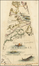 New England, Mid-Atlantic, Canada, Caribbean and South America Map By Vincenzo Maria Coronelli