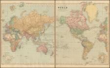 World and World Map By Edward Stanford