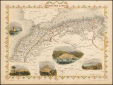 North Africa Map By John Tallis