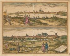 Centre et Pays de la Loire Map By Georg Braun  &  Frans Hogenberg