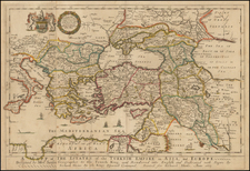 Greece, Turkey, Mediterranean and Turkey & Asia Minor Map By Richard Blome