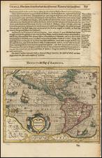 South America and America Map By Jodocus Hondius / Samuel Purchas