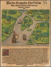 Florida and Southeast Map By Theodor De Bry