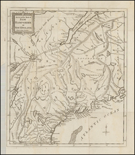 New England and New Hampshire Map By Universal Magazine