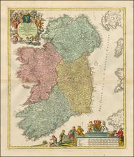 Ireland Map By Johann Baptist Homann