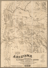 Arizona Map By Richard J. Hinton
