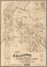 Southwest, Arizona and California Map By Richard J. Hinton