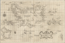 Atlantic Ocean, Iceland and Balearic Islands Map By Robert Dudley