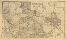 Rocky Mountains and Colorado Map By George Clason