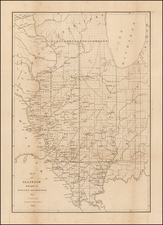 Midwest, Illinois and Plains Map By David Hugh Burr