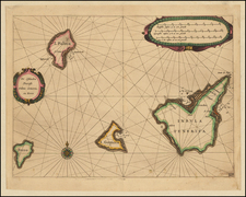 Atlantic Ocean, Spain and African Islands, including Madagascar Map By Willem Janszoon Blaeu