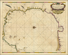 Florida, South and Texas Map By Arent Roggeveen / Jacobus Robijn