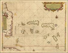 Florida, Southeast, Caribbean and Bahamas Map By Arent Roggeveen / Jacobus Robijn